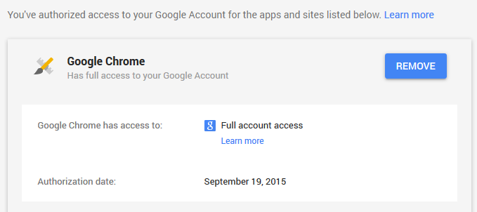 Google App Account Access